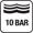 10 bar (100 m) nyomásig vízálló