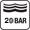 20 bar (200 m) nyomásig vízálló