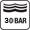 30 bar (300 m) nyomásig vízálló