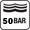 50 bar (500 m) nyomásig vízálló