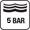 5 bar (50 m) nyomásig vízálló