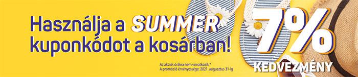 Summer 7% kedvezmény